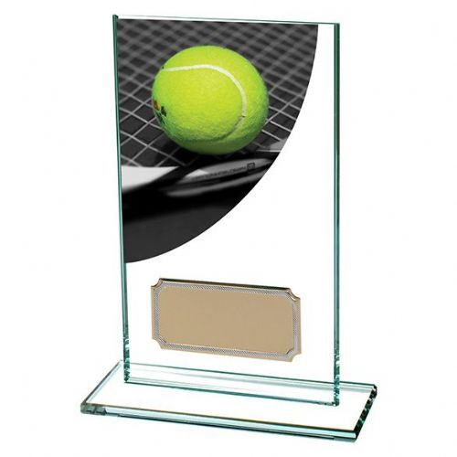 Colour Curve Tennis Jade Glass Award 140mm